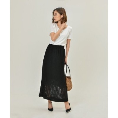 スカート crochet knit skirt