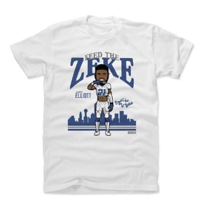 NFL Tシャツ エゼキエル・エリオット/エズーキュエル カウボーイズ Toon B T-Shirts 500LEVEL ホワイト