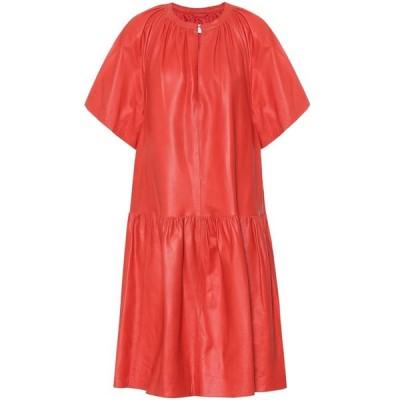 スタンドスタジオ Stand Studio レディース ワンピース ミドル丈 ワンピース・ドレス Kaitlyn leather midi dress Ruby Red