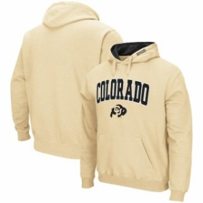 Colosseum コロセウム スポーツ用品  Colosseum Colorado Buffaloes Gold Arch & Logo Pullover Hoodie