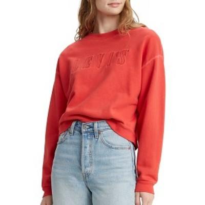 リーバイス レディース パーカー・スウェットシャツ アウター Levi's Women's Graphic Diana Crew Sweatshirt PoppyRed
