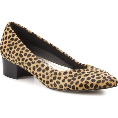 ウォーキング クレードル Walking Cradles レディース パンプス シューズ・靴 Heidi Tan Mini Cheetah Haircalf/Black Leather