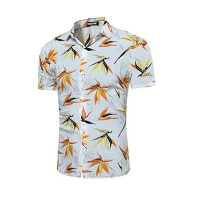 SUNNUY tシャツ 半袖 メンズ 春夏 ゆったり UV対策 おしゃれ ロング丈 ハワイシャツ ボタンダウン おおきいサイ?