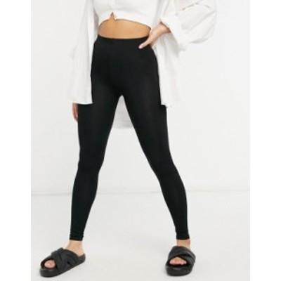エイソス レディース レギンス ボトムス ASOS DESIGN high waisted leggings in black Black