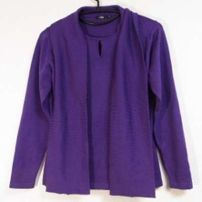 エムフィル M・Fil 長袖セーター サイズ38 M レディース 新品同様 - パープル ボウタイ【中古】20210311