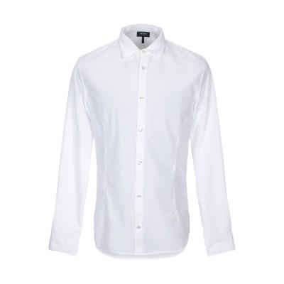 アルマーニ ジーンズ ARMANI JEANS シャツ ホワイト S ポリエステル 50% / コットン 50% シャツ