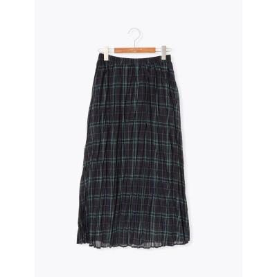ポリ麻プリーツスカート