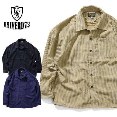 2019A/W『UNIVERD72/ユニバード72』40671 WAFFLE WIDE SHIRT / ワッフルワイドシャツ -全3色-