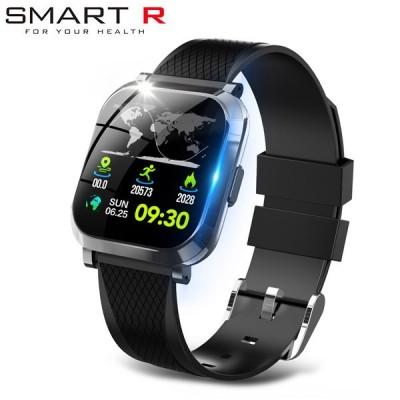国内正規品 SMART R スマートウォッチ W12 ブラック メンズ レディース 腕時計 スマートR