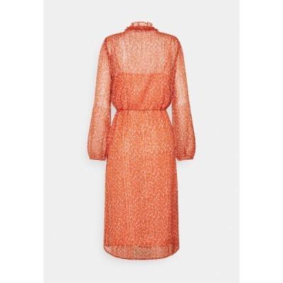 サントロペ ワンピース レディース トップス XELINA DRESS - Day dress - red orange/puff sky