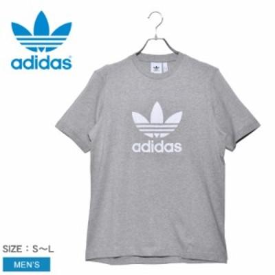 【メール便可】アディダス オリジナルス 半袖 Tシャツ メンズ トレフォイル トップス グレー TREFOIL T-SHIRT CY4574