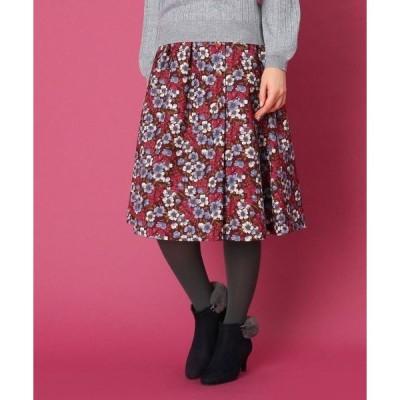 Couture Brooch / クチュールブローチ 【WEB限定サイズ(LL)あり/手洗い可】レトロフラワースカート