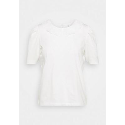 オンリー プティ Tシャツ レディース トップス ONLNILLE COLLAR - Print T-shirt - bright white