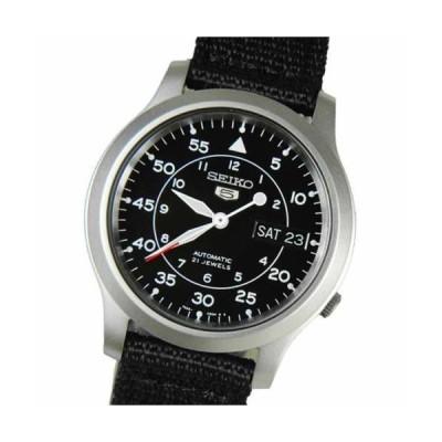 腕時計 セイコー SEIKO 5 Black Men's Automatic Nylon Watch SNK809K2 SNK809