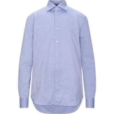 シリオ SIRIO メンズ シャツ トップス Patterned Shirt Sky blue