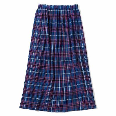 細幅が新鮮 プリーツスカート〈ブルー〉 フェリシモ FELISSIMO