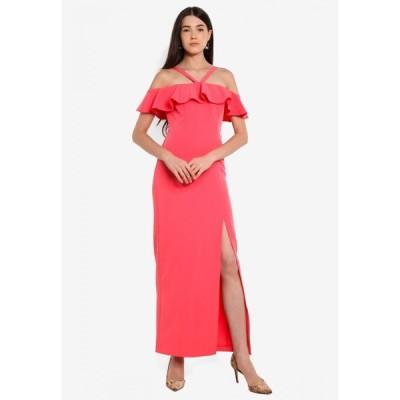 ミス セルフリッジ Miss Selfridge レディース パーティードレス マキシ丈 ワンピース・ドレス Pink Ruffle Maxi Dress Pink