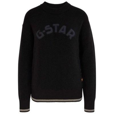 ジースター ニット&セーター レディース アウター Gstar College GR Loose Knit Dark Black