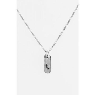 ナシェル NASHELLE レディース ネックレス ジュエリー・アクセサリー Sterling Silver Initial Mini Bar Necklace Sterling Silver