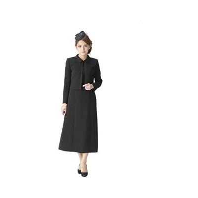 (マーガレット)marguerite m453 レディース ブラックフォーマル 喪服 礼服 ロング丈 アンサンブル (ブラック 7 号)