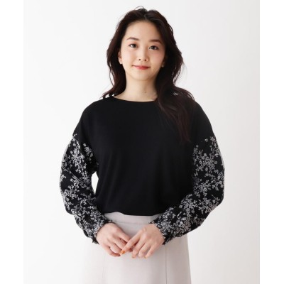 SHOO・LA・RUE/DRESKIP(シューラルー/ドレスキップ) お袖刺繍レ-ス切り替えプルオーバー