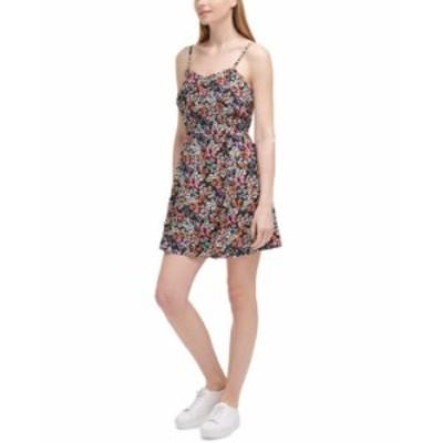 カルバンクライン レディース ワンピース トップス Printed A-Line Dress Bouquet Starfish