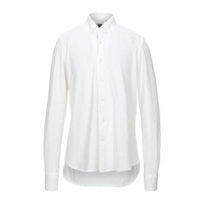 NINO CRISTIANI 無地シャツ ファッション  メンズファッション  トップス  シャツ、カジュアルシャツ  長袖 ホワイト