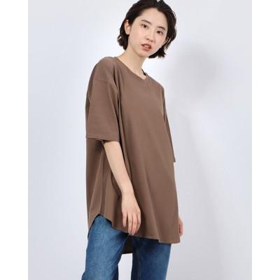 ジーラ GeeRA 【WEB限定】裾ラウンドTシャツ (モカ)