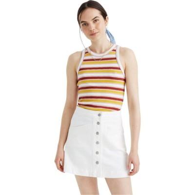 メイドウェル Madewell レディース スカート デニム White Denim Metropolis Skirt Tile White