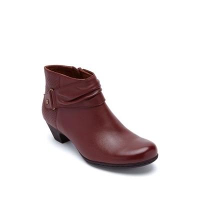 ロックポート レディース ブーツ&レインブーツ シューズ Brynn Rouched Boot - Wide Width Available DARK BROWN/BROWN