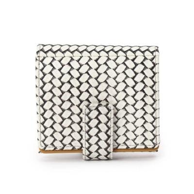 ヒロコ ハヤシ HIROKO HAYASHI OTTICA(オッティカ)薄型二つ折り財布 (アイボリー)
