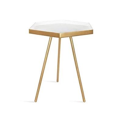 Modern Hexagon Side Table 51×36×36センチ アクセントテーブル サイドテーブル ヘキサゴン 六角形 ゴールド