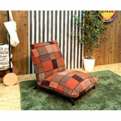 ソファー 1人掛け 椅子 テレワーク 在宅 チェア 一人暮らし コンパクト ミニ 小さめ オレンジ 約 幅68 奥行85-132 高さ30-76 座面高30