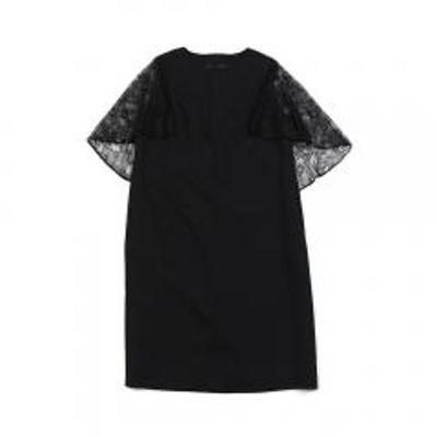 kaene(カエン)kaene カエン  フラワーレース ケープ風 ワンピース ドレス 100008 F(フリー) ブラック(2)