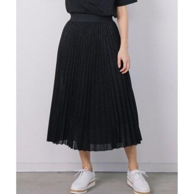 スカート ラメプリーツスカート