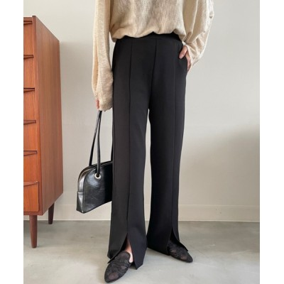 NEUNA / 【洗濯機OK】セミワイドスリットスラックスパンツ WOMEN パンツ > スラックス