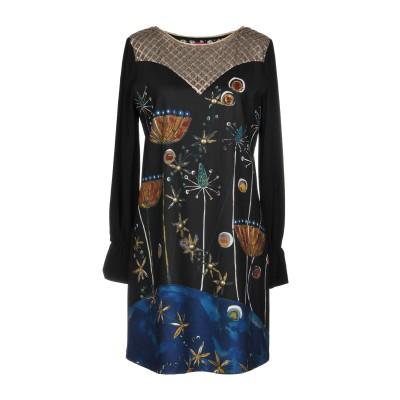 SAVE THE QUEEN ミニワンピース&ドレス ブラック S 96% ポリエステル 4% ポリウレタン ミニワンピース&ドレス