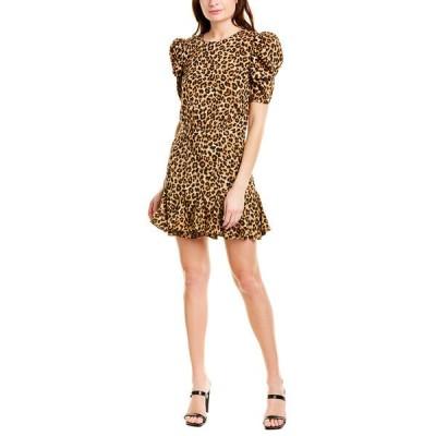 ヴェロニカ ベアード ワンピース トップス レディース VERONICA BEARD Lila Silk-Blend Mini Dress leopard