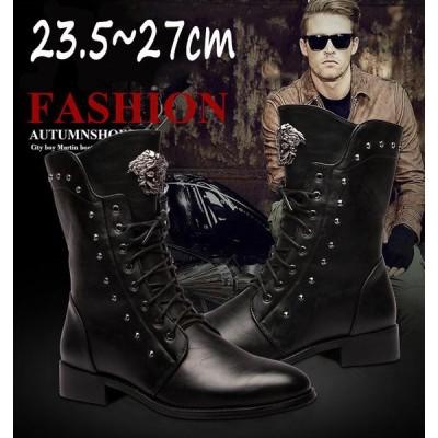 ブーツ ワークブーツ ショートブーツ メンズ おしゃれ ブラック メンズシューズ ブーツ 靴 革靴 牛革 床革 防滑ソール シューズ