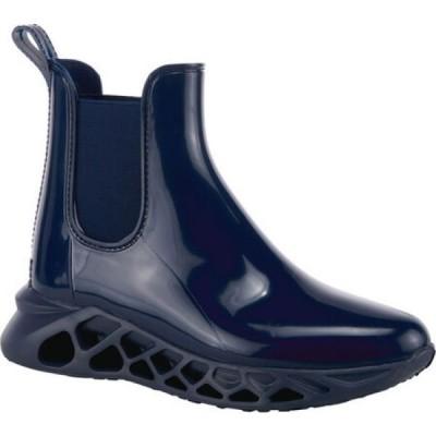 スプリングステップ Spring Step レディース ブーツ チェルシーブーツ シューズ・靴 Yasmine Waterproof Chelsea Boot Navy PVC