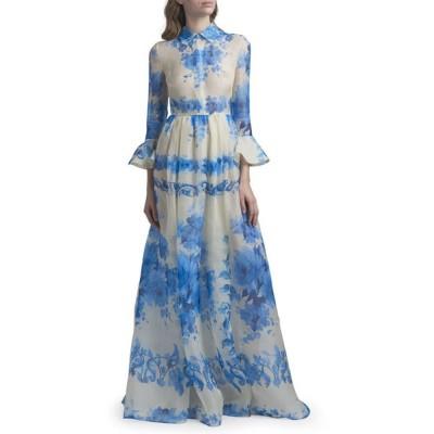 ヴァレンティノ レディース ワンピース トップス Trumpet-Sleeve Silk Shirt Gown