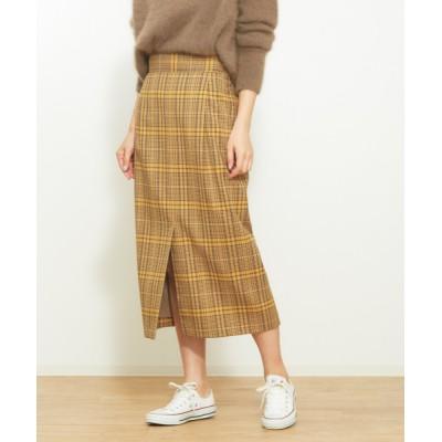 Rouge vif la cle / スリット入りチェックタイトスカート WOMEN スカート > スカート