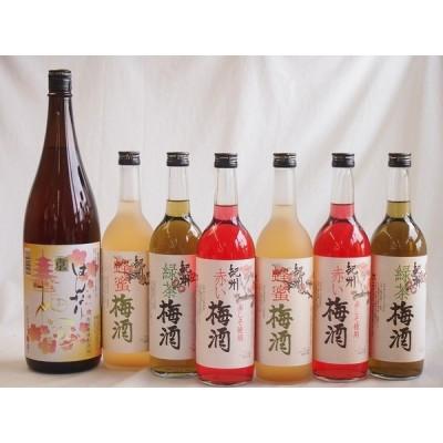 カラフル梅酒7本セット(赤しそ赤い梅酒(和歌山) 米焼酎仕込はんなり梅酒(京都) 蜂蜜梅酒(和歌山) 緑茶梅酒(和歌山)) 720ml×6本 1800