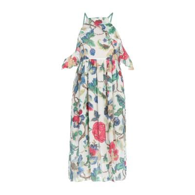 セミクチュール SEMICOUTURE 7分丈ワンピース・ドレス ライトグリーン 44 レーヨン 100% 7分丈ワンピース・ドレス