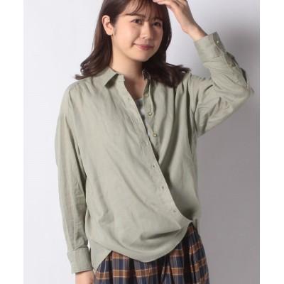 【テチチ】 綿麻2WAYカシュクールBIGシャツ レディース カーキ F Te chichi