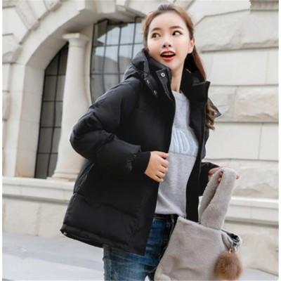 気持ちいい布地❕韓国ファッション 2020ニュースタイル 厚手 カジュアル 百掛け 気質 ファッション ダウンコート レディース 韓国版 ゆったりする 綿の服 短いスタイル コート ジッパー 長袖