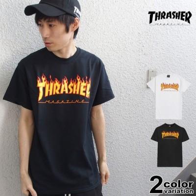 メール便送料270円 スラッシャー THRASHER Tシャツ 半袖 メンズ FLAME LOGO