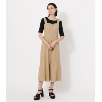 【30%OFF】 ZIP UP JUMPER DRESS/ジップアップジャンパードレス WOMENSレディース