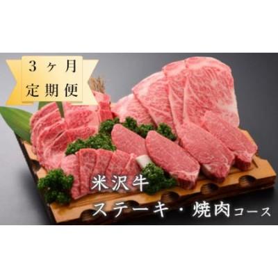 【定期便】米沢牛 ステーキ・焼肉コース