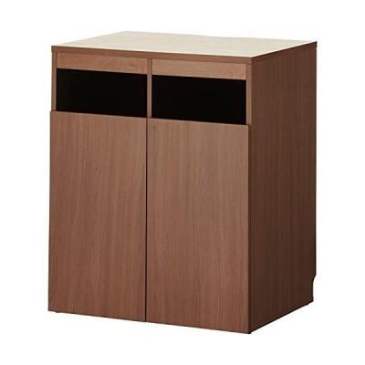 届け先法人限定 オフィスコム セルボ ゴミ箱収納用カウンター 木製 幅796×奥行608×高さ950mm ダークブラウン CELVO-TRC